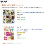 レシピ本がAmazonランキングで1位に!